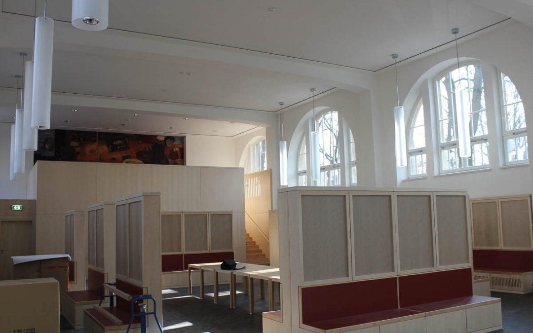 objekteinrichtung mobel berlin sporthalle pausenbereich tischlerei